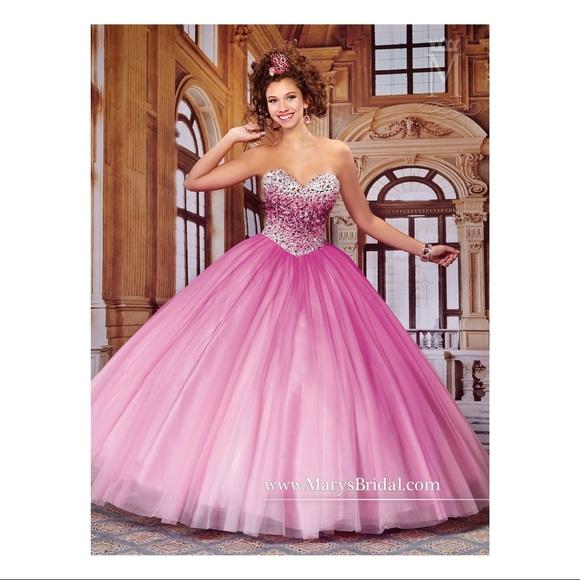 cb7b4bd380d pink Marys Bridal Quinceanera  sweet 16  Ballgown